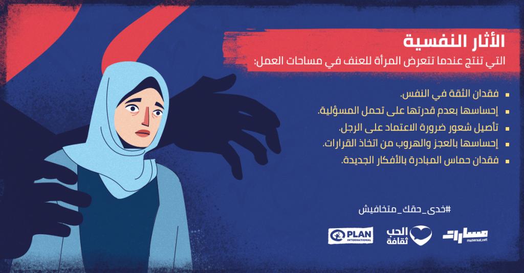 الآثار النفسية للعنف ضد المرأة في العمل